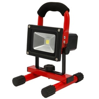 10W Spotlight Outdoor Camping Light Built-in Rechargeable Lithium Batteries (Option: Red)