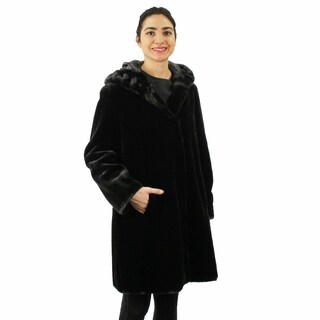 Faux Beaver short Coat (Plus size)