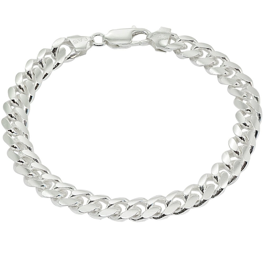 Sterling Silver Bracelet With Plain Silver 8.5 INCH