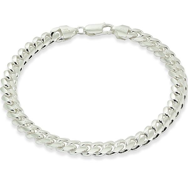 Shop Mondevio 7 5mm Miami Cuban Curb Link Chain Bracelet