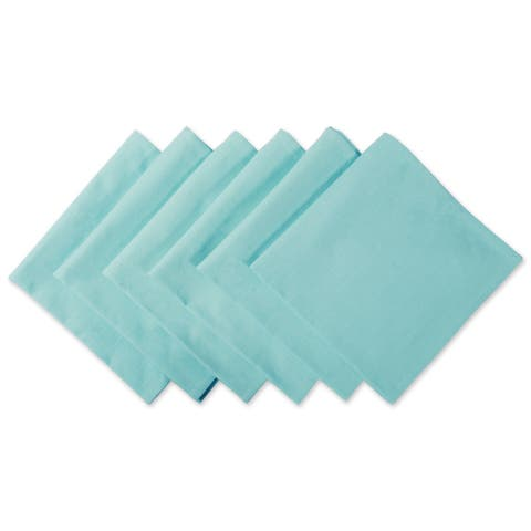 Design Imports Aqua Cotton Napkin Set (Set of 6)