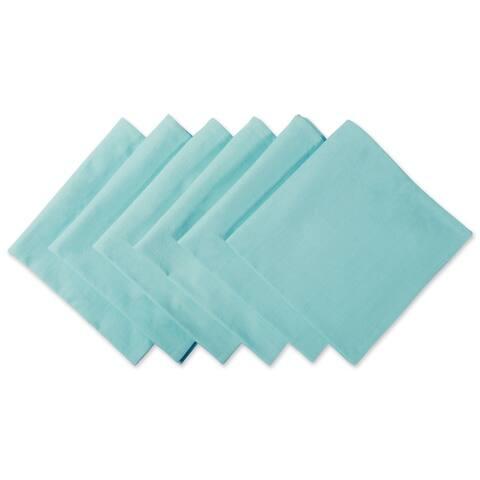 Design Imports Aqua Cotton Napkin Set (Set of 6)