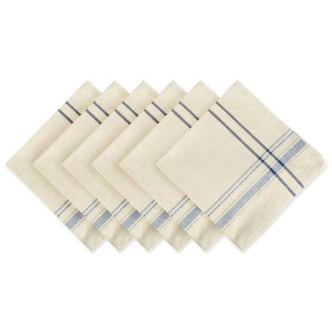 Design Imports Black French Stripe Napkin Set (Set of 6)