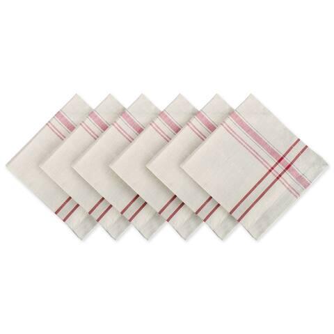 Design Imports Black French Stripe Napkin Set (Set of 6)