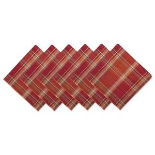Design Imports Campfire Plaid Napkin Set (Set of 6)