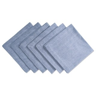 Design Imports Blue Solid Chambray Napkin Set (Set of 6)