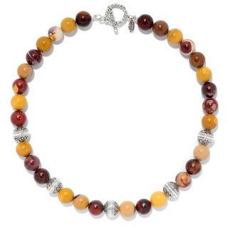 Balinese Artisan Jewelry Sterling Silver Mookaite Necklace.