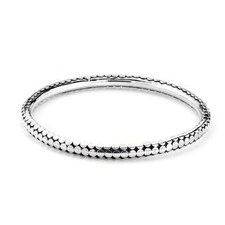 Balinese Artisan Jewelry Sterling Silver dot design Bangle.