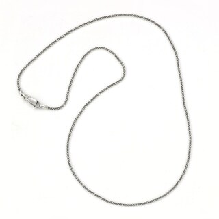 "Balinese Artisan Jewelry Sterling Silver 20"" Oxidized 1.4MM Thin Popcorn chain."