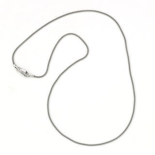 "Balinese Artisan Jewelry Sterling Silver 24"" Oxidized 1.4MM Thin Popcorn chain."