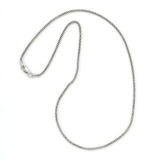 "Balinese Artisan Jewelry Sterling Silver 18"" Oxidixzed 2MM popcorn chain."