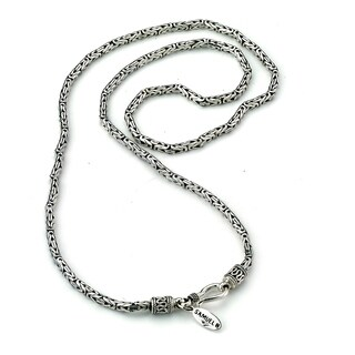 "Balinese Artisan Jewelry Sterling Silver 2.5MM Byzantine chain IN 18""."