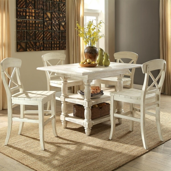 Shop Regan Counter Height Dining Table Farmhouse White
