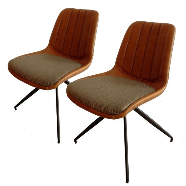 Remarkable Shop Elona Pleated Faux Leather Dining Chair Set Of 2 Forskolin Free Trial Chair Design Images Forskolin Free Trialorg