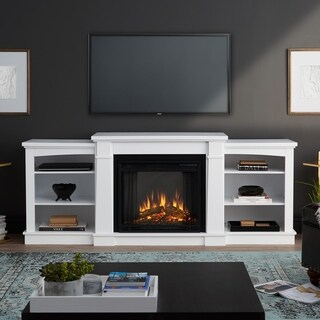 Hawthorne Electric Fireplace White by Real Flame