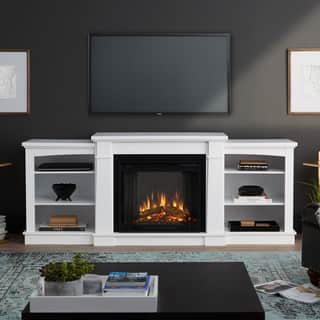 Peachy Buy Metal Media Console Fireplaces Online At Overstock Com Home Interior And Landscaping Eliaenasavecom