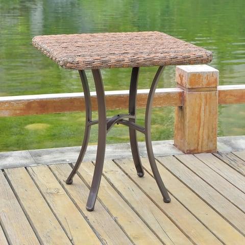 International Caravan Pandan 28-inch Aluminum Patio Dining Table
