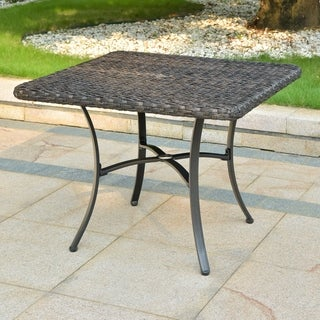 International Caravan Pandan 28-inch Aluminum Patio Dining Table