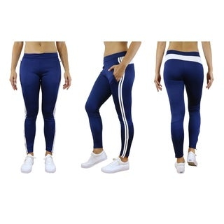 Galaxy By Harvic Women's Striped Track Joggers
