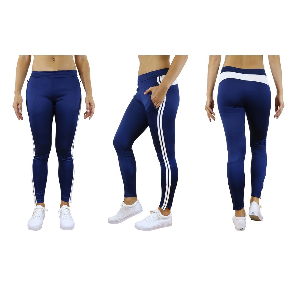Galaxy by Harvic Womens Striped Track Joggers