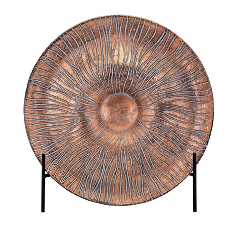 Inga Copper Decorative Charger with Stand