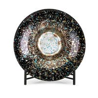 Helena Multi-color Glass Charger with Stand