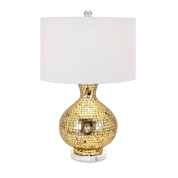 Radhi Gold and Chrome Mosaic Table Lamp