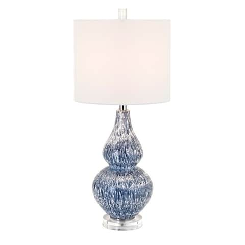 Andorian Rich Blue and White Shape Table Lamp