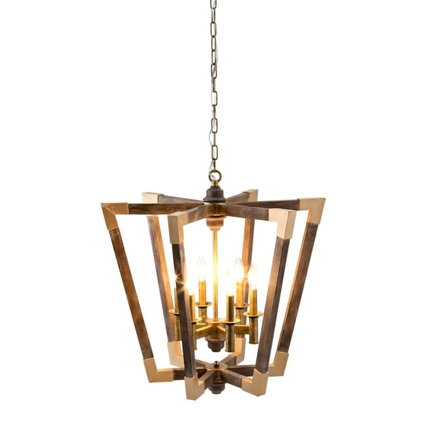 Brady Brown Wood Chandelier