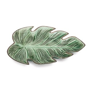 Tering Emerald Green Leaf Plate