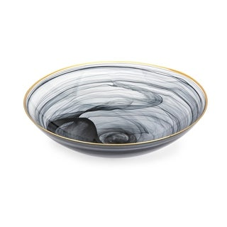 Yorkshire Dramatic Black Glass Charger