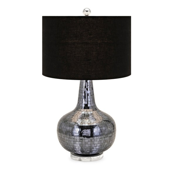 Rabi Clear Acrylic and Chrome Mosaic Table Lamp