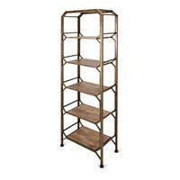 Tobias Antique Brass Bookshelf