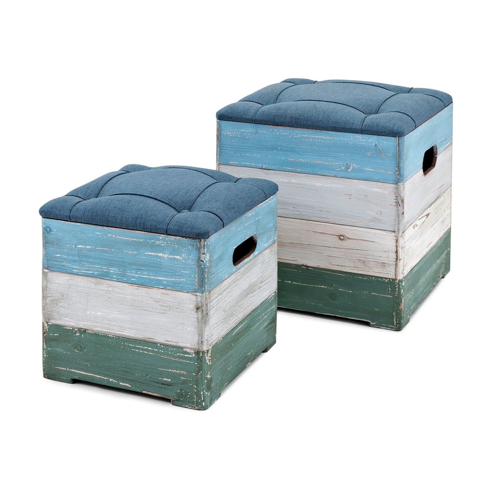 Brilliant Delta Multi Color Wood Crate Ottomans Set Of 2 Caraccident5 Cool Chair Designs And Ideas Caraccident5Info