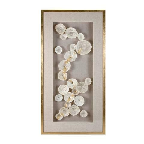 Iris Ivory and Metallic Gold Dimensional Wall Art