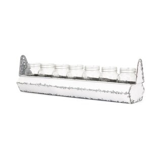Orman Weathered White Tray with Jars