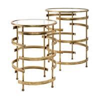 Morris Antiqued Gold Accent Tables (Set of 2)