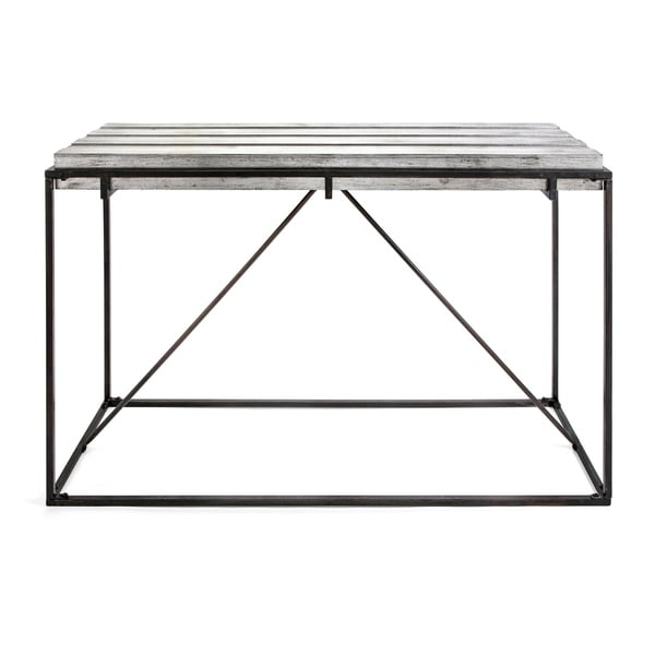 Collins Sleek Black and Metallic Silver Console Table Free