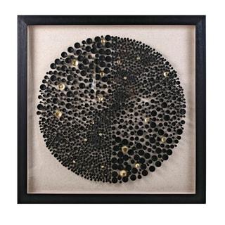 Xander Black and Gold Dimensional Wall Art