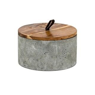 Becker Grey Short Lidded Box