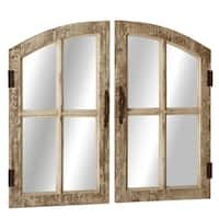 Distressed Window Pane Wall Mirror set/2.