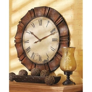Large Antique Copper Wall Clock.