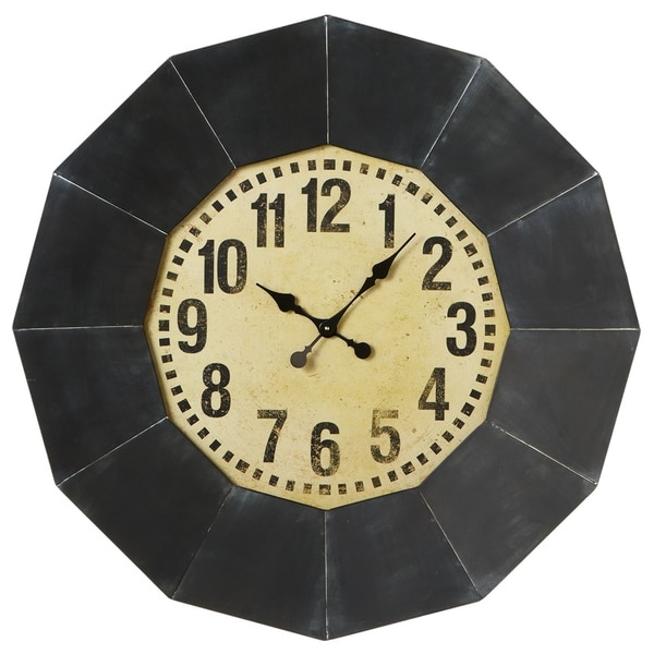 Oversized Black Frame Wall Clock