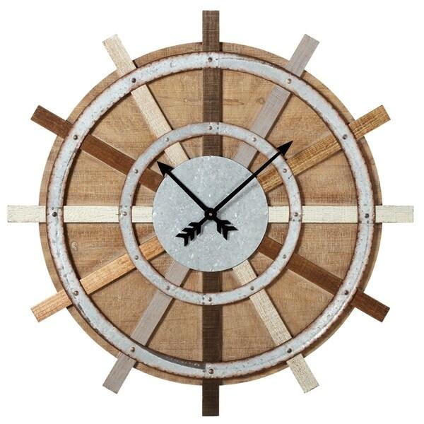 Wagon Wheel Wall Clock.