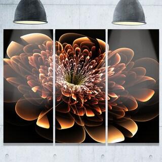 Brown Fractal Flower - Floral Glossy Metal Wall Art - 36Wx28H (As Is Item)