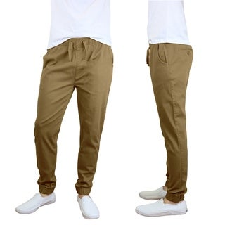 Link to Galaxy by Harvic Men's Cotton Stretch Twill Joggers Similar Items in Loungewear
