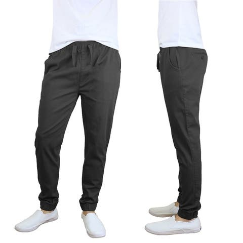 Galaxy By Harvic Men's Cotton Stretch Twill Joggers