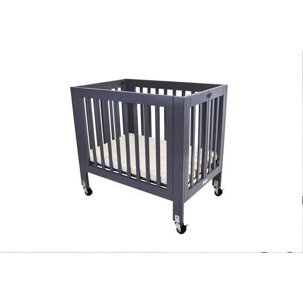 Shop La Baby Olympia Miniportable Folding Wood Crib Free Shipping