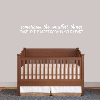 Sometimes The Smallest Things Wall Decal - MEDIUM