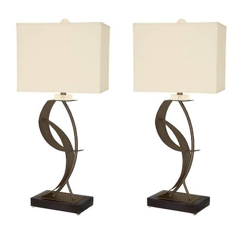 "Van Teal 630672PR Lady Eva 33"" Table Lamps (Set of 2)"